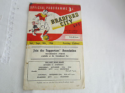 1956-57 MIDLAND LEAGUE BRADFORD CITY v FRICKLEY COLLIERY