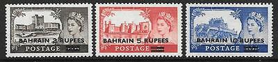 Bahrain Sg94/96 1955  Definitives Mnh