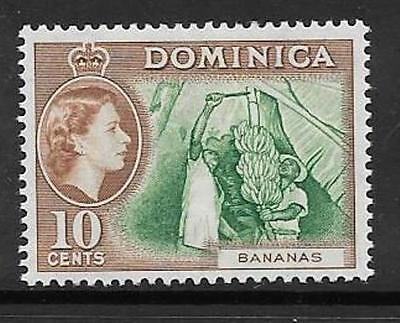 DOMINICA SG150 1957 10c GREEN & BROWN MTD MINT