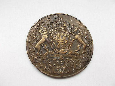 historical medal admiral  Vernon  six ships  22 nov 1739  coat of arms variation