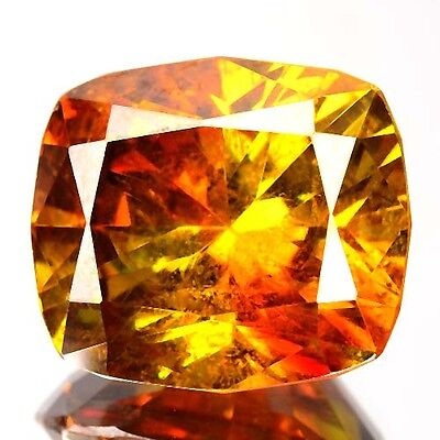 16.44 Cts Natural Sunset Orange Sphalerite Cushion Cut Spain Gem (Video Avl)