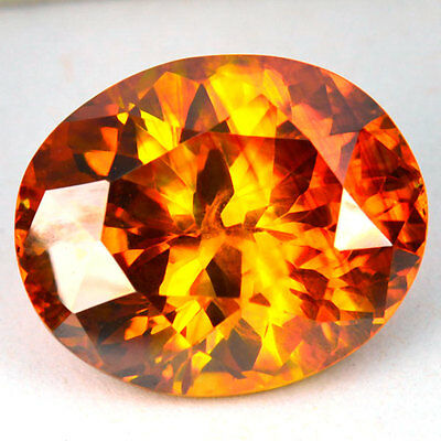 23.57 Cts NATURAL AA SUNSET ORANGE SPHALERITE OVAL CUT SPAIN GEM