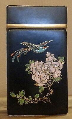 Rare Carlton Ware Oblong Jar Decorated In Oriental Style of Cloisonne