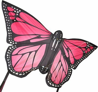 Large Monarch Butterfly Kite Pink - Easy To Fly Kids Kite
