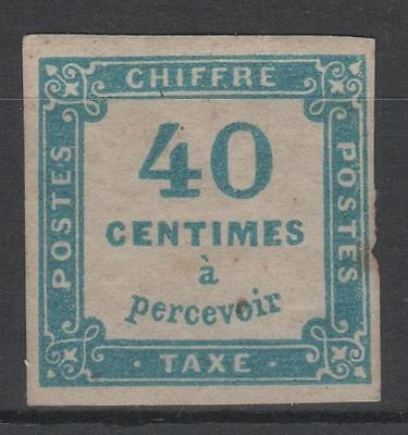 """FRANCE STAMP TIMBRE TAXE 7 """" CHIFFRE TAXE 40c BLEU """" NEUF x A VOIR   N395"""