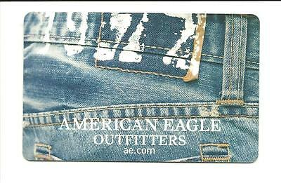 American Eagle Outfitters Gift Card No $ Value Collectible AE Denim Blue Jeans