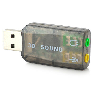 Audio Adapter Card 5.1 USB To 3.5mm Mic Headphone Jack Stereo Headset Sound