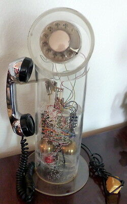 Vintage Teleconcepts Model 100 Periscope Rotary Telephone Lucite Modern Clear