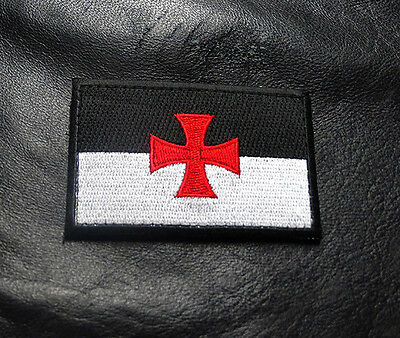Knights Templar Cross Infidel Christian Hook Morale Patch
