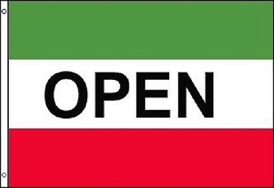 OPEN Flag Red White Green Store Banner Advertising Pennant Business Sign 3x5