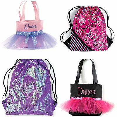NEW Dance Ballet Tap Jazz Skating Twirl Sling Tote Duffle Bag - You Pick