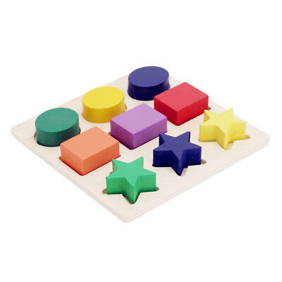 Baby Kids Montessori Early Educational Learning Toy Geometry Block Puzzle #1