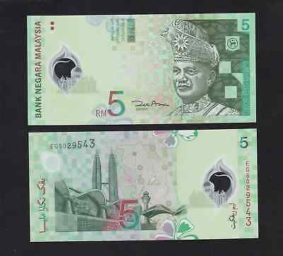 Malaysia 5 Ringgit (2004) P47 Polymer Banknote - UNC