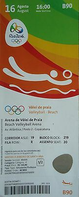 mint TICKET 16.8.2016 Rio Beachvolleyball Women's Brasilien - Deutschland # B90