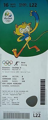 TICKET 16.8.2016 Olympia Rio Olympic Games Boxen L22