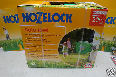 Hozelock 2490 Wall Mounted Auto Hose Reel With 20Metre Hose