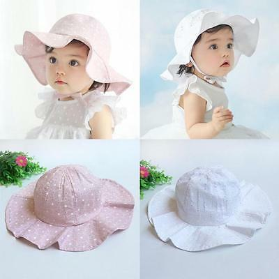 Toddler Infant Kids Sun Cap Summer Outdoor Baby Girls Boys Sun Beach Cotton Hat