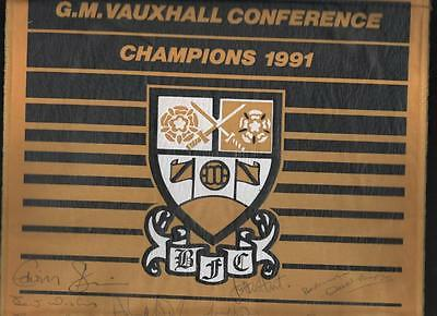 BARNET Conference Champions 1991 Signed Large Pennant FREE POST UK