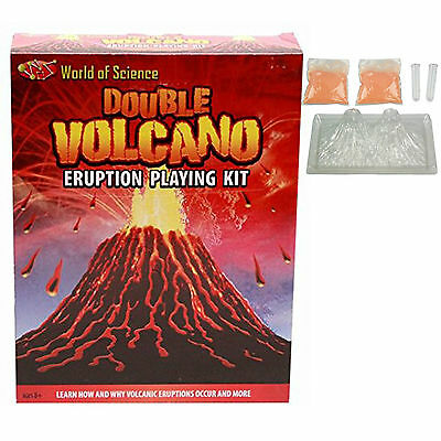 Make Your Own DIY Double Volcano Eruption Playing Kit Educational Science Toy