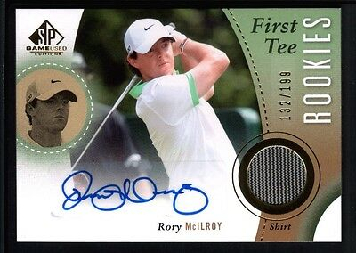 Rory Mcilroy 2014 Sp Game Used Rc Rookie Autograph Golf Shirt Jersey Auto #/199