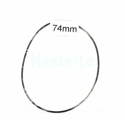 74mm Rubber Drive Belt Replacement Part for Cassette Tape Deck Recorder