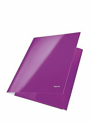 Pack of 5 Leitz Wow A4 3 Flap Document Folder Purple 3982-00-62