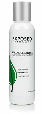 Facial Cleanser - For Clear & Clean Skin, by Exposed Skin Care
