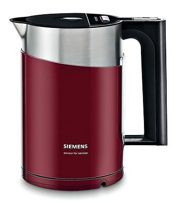 Siemens TW86104P Wasserkocher sensor for senses 2400 W, 1,5 Lcranberry red