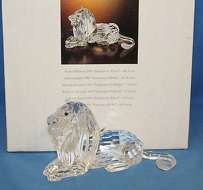 "Swarovski Crystal, 185410 - Annual Edition 1995 ""Inspiration Africa"" - The Lion,"