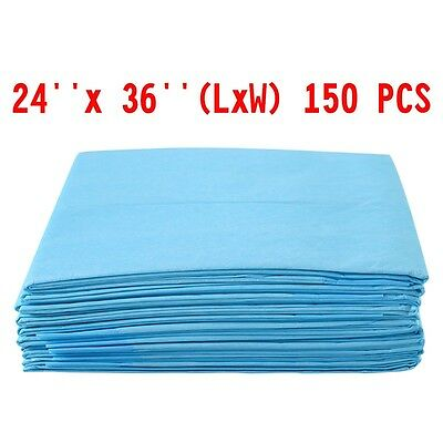 24'' x 36'' 150 PCS Puppy Pet Pads Dog Cat Training Underpads Wee Pee Piddle Pad
