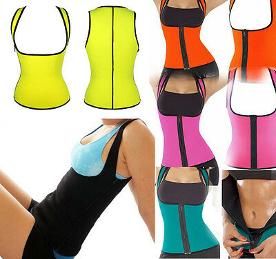 Hot Neoprene Thermo Cami Tummy Belt Shapewear Faja Sauna Vest Sweat Wrap Extreme