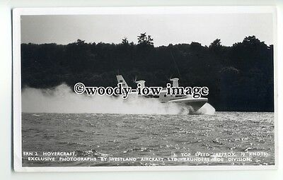 f0781 - SRN 2 Hovercraft at Speed , Isle of Wight - postcard by Nighs