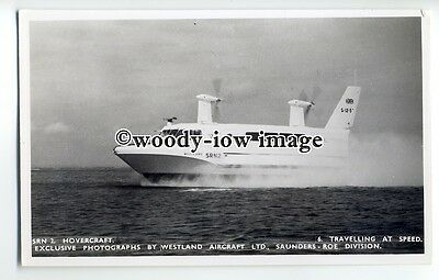 f0787 - SRN 2 Hovercraft at Speed , Isle of Wight - postcard by Nighs