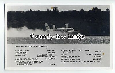 f0791 - SRN 2 Hovercraft at Speed , Isle of Wight - postcard by Nighs