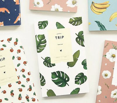 Lovable Trip Note Travel Planner Diary Scheduler Journal Memo Ticket Notebook