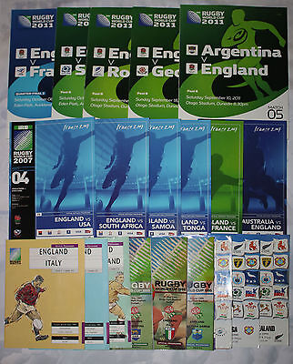 20 Different England Rugby World Cup Programmes 1991-2011