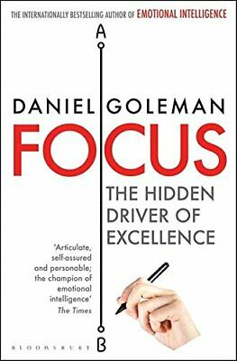 Focus: The Hidden Driver of Excellence by Goleman, Daniel Book The Cheap Fast