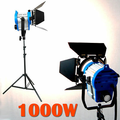 1000W Light Fresnel Tungsten Spotlight Camera Video Studio Bulb Barndoor Stand