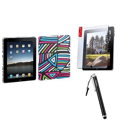 Lizzo Conceptual Chance Back Case Cover+Protector+Stylus For Apple iPad 1 1st
