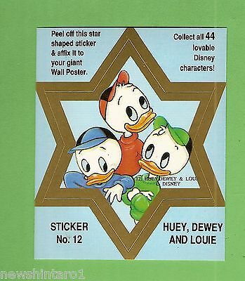 #d544. Disney Star  Sticker Card #12  Huey, Dewey And Louie, Blue