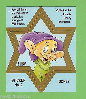 #d544. Disney Star  Sticker Card #2  Dopey, Blue