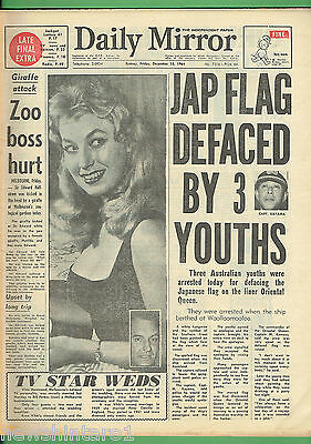 #BB6.  DAILY  MIRROR  NEWSPAPER, SYDNEY,  Friday 18th December  1964