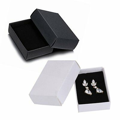 Wholesale Black Jewelry Paper Gift Boxes For Ring Earring Necklace Bracelet Box