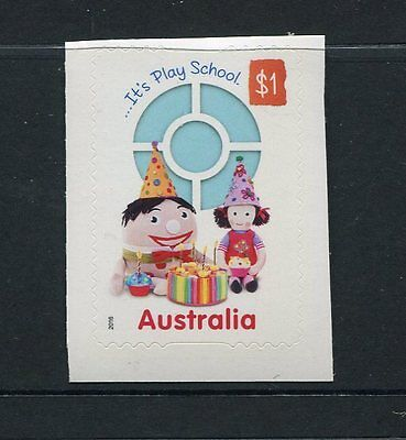 2016 Play School 50 Years - Booklet Stamp With Big Ted & Jemima