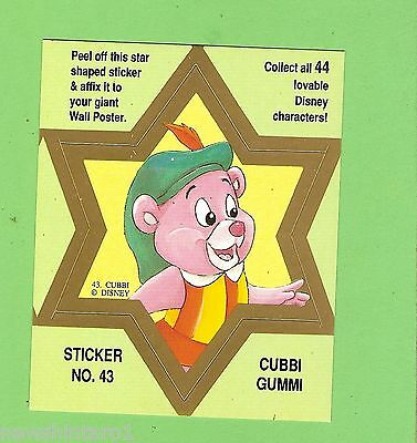 #d544. Disney Star  Sticker Card #43  Cubbi  Gummi, Green