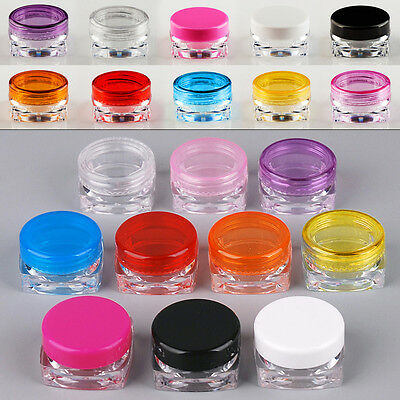 Small Empty Cosmetic Cream Plastic Sample Containers Eyeshadows Jar Pot Set 650