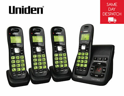 Uniden 1635+3 Dect Phone System With Power Syastem Failure Backup