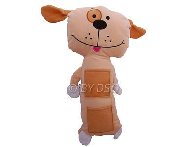 SPOT DOG Kids Seat belt Cuddly Toy Pillow with Pockets GREAT GIFT