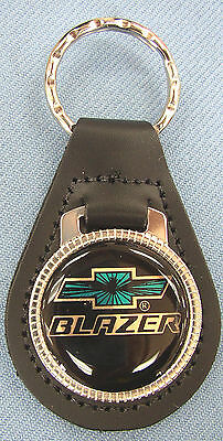 Chevy BLAZER Leather Keyring Chevrolet Bow Tie 1987 1988 1989 1990 1991 1992