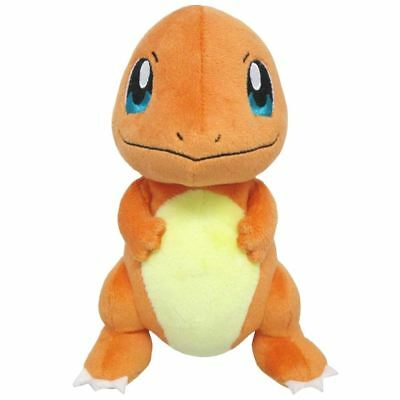 """Official Sanei Pokemon Charmander Soft Plush Toy - 7"""" Go Collectable Rare New"""